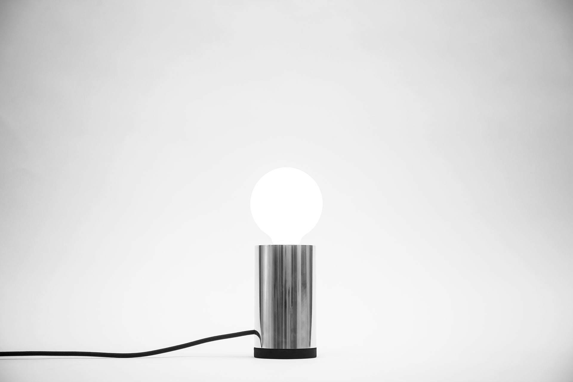 Simple desk lamp with creative touch dimmer inspired by contemporary minimalist design