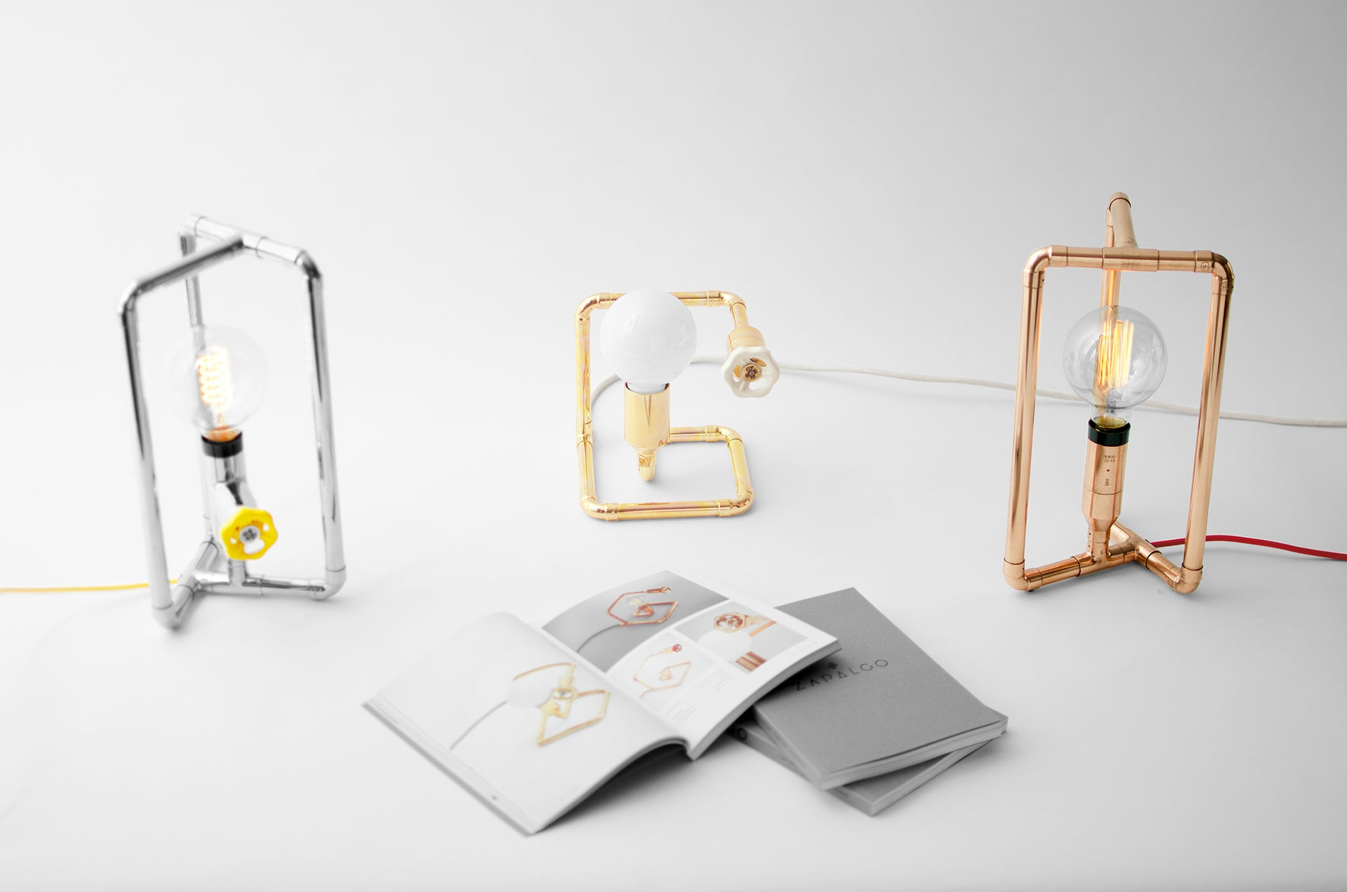 Cool dimmable table lamps in colorful finishes inspired by scandinavian design