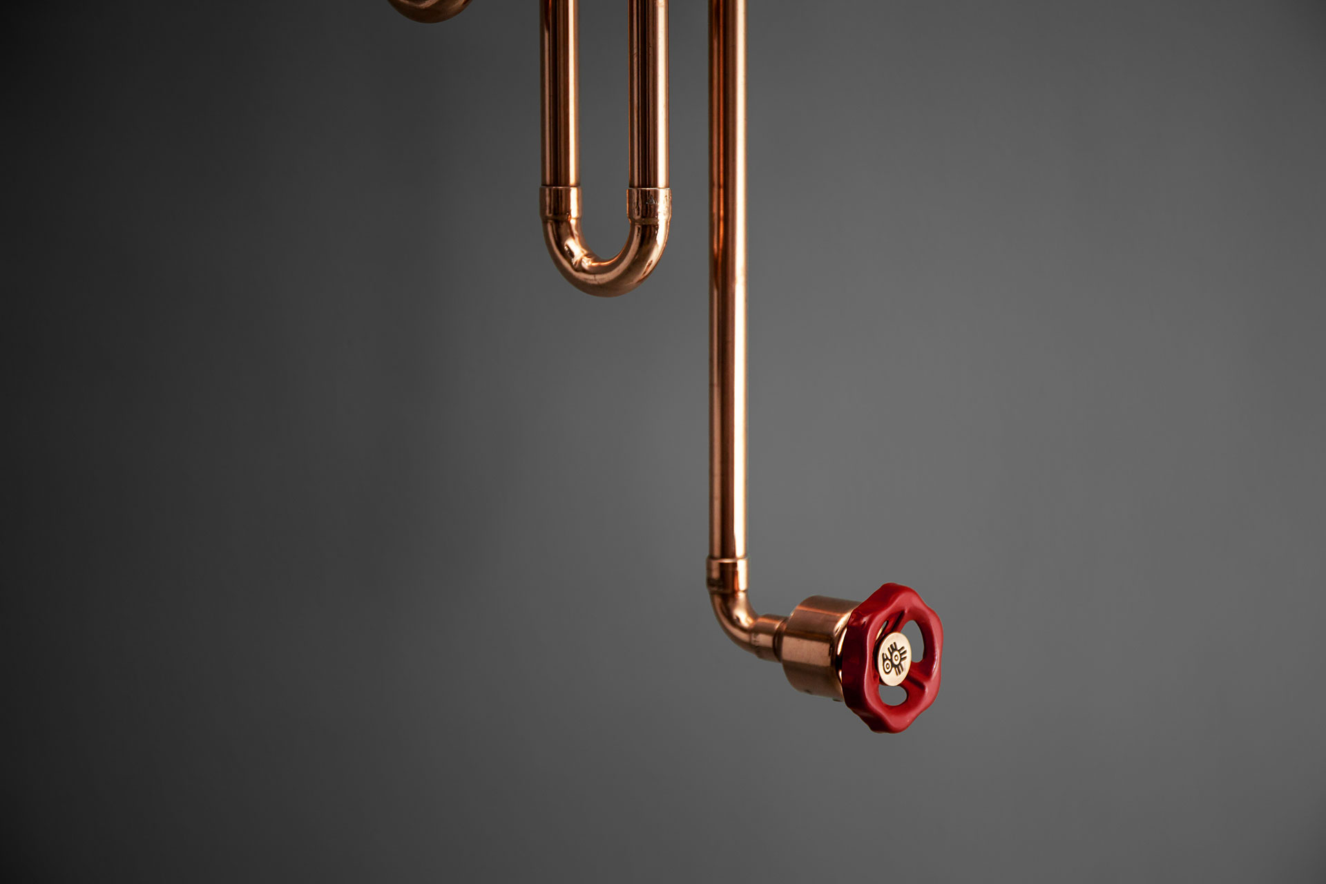 Industrial design copper wall lamp with dimmer