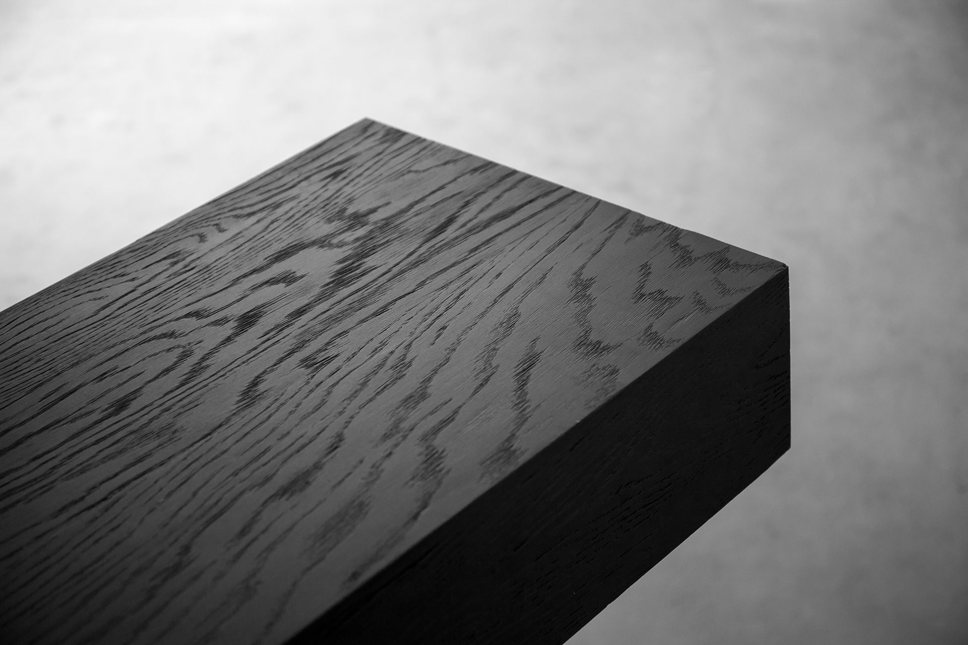 Black wood console
