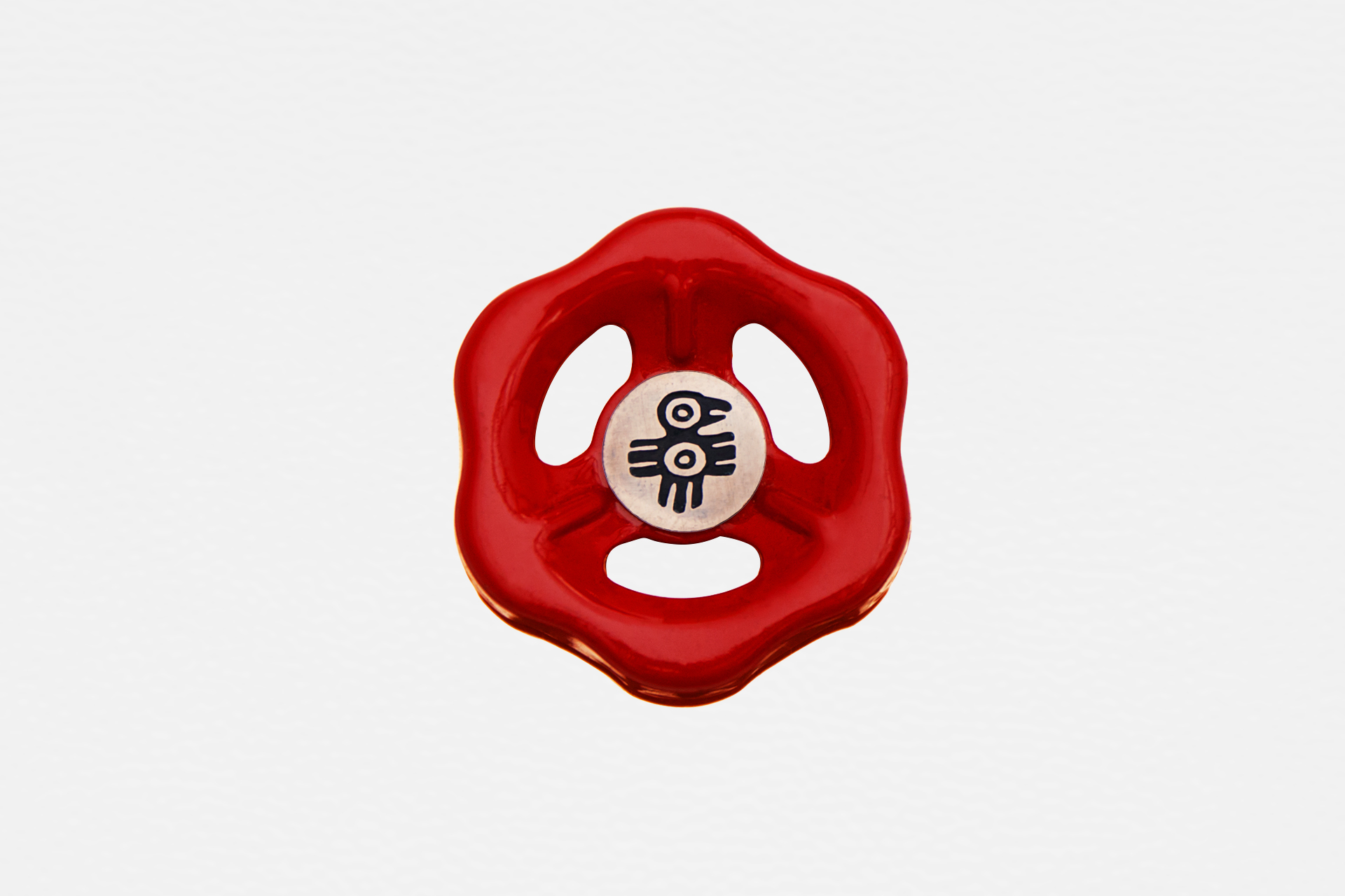 Dimmer light switch knob in red color for industrial interiors