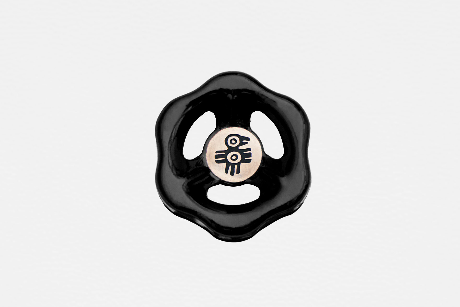 Dimmer light switch knob in black color for loft interiors