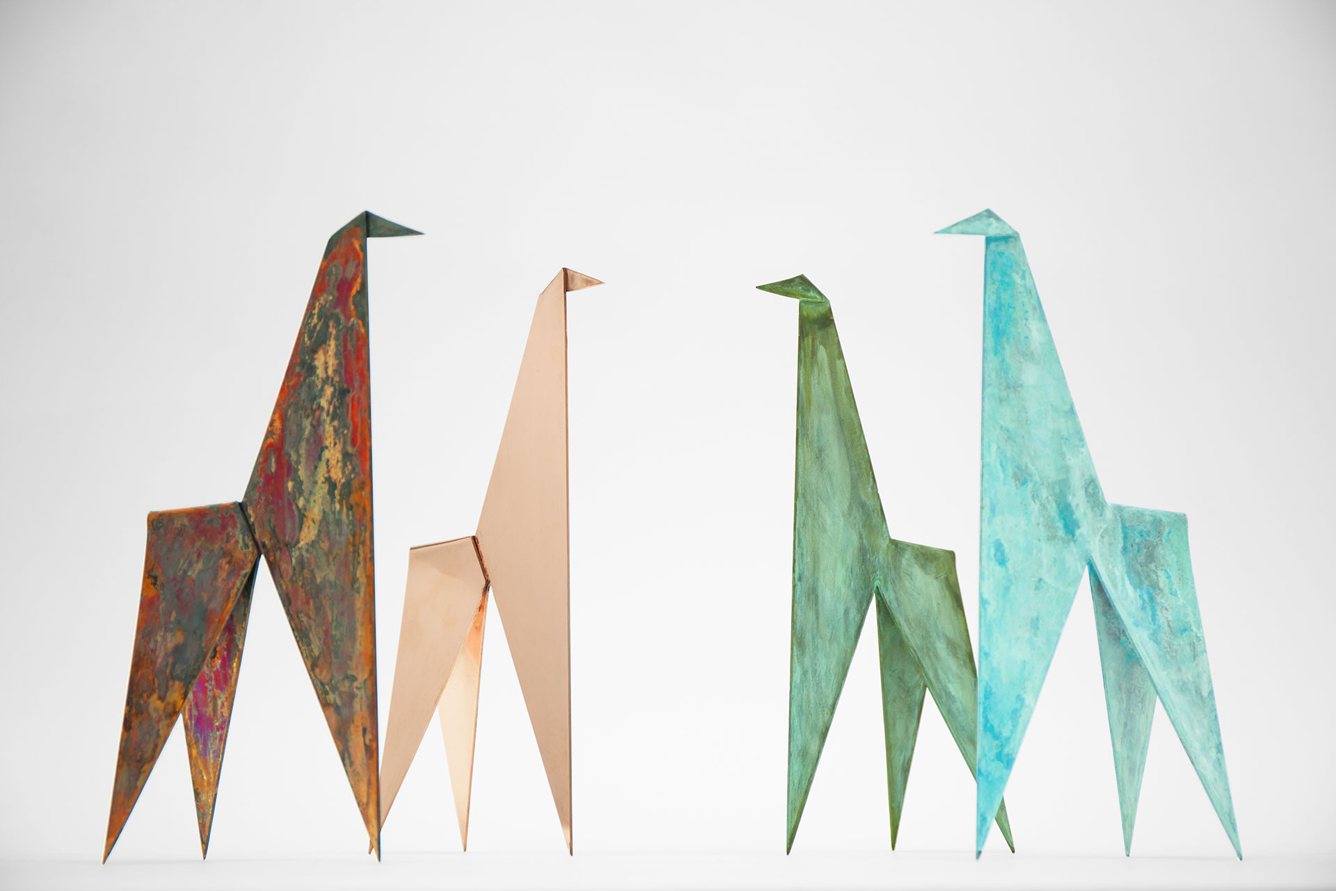 Colorful apartment decoration inspired by Japanese origami art
