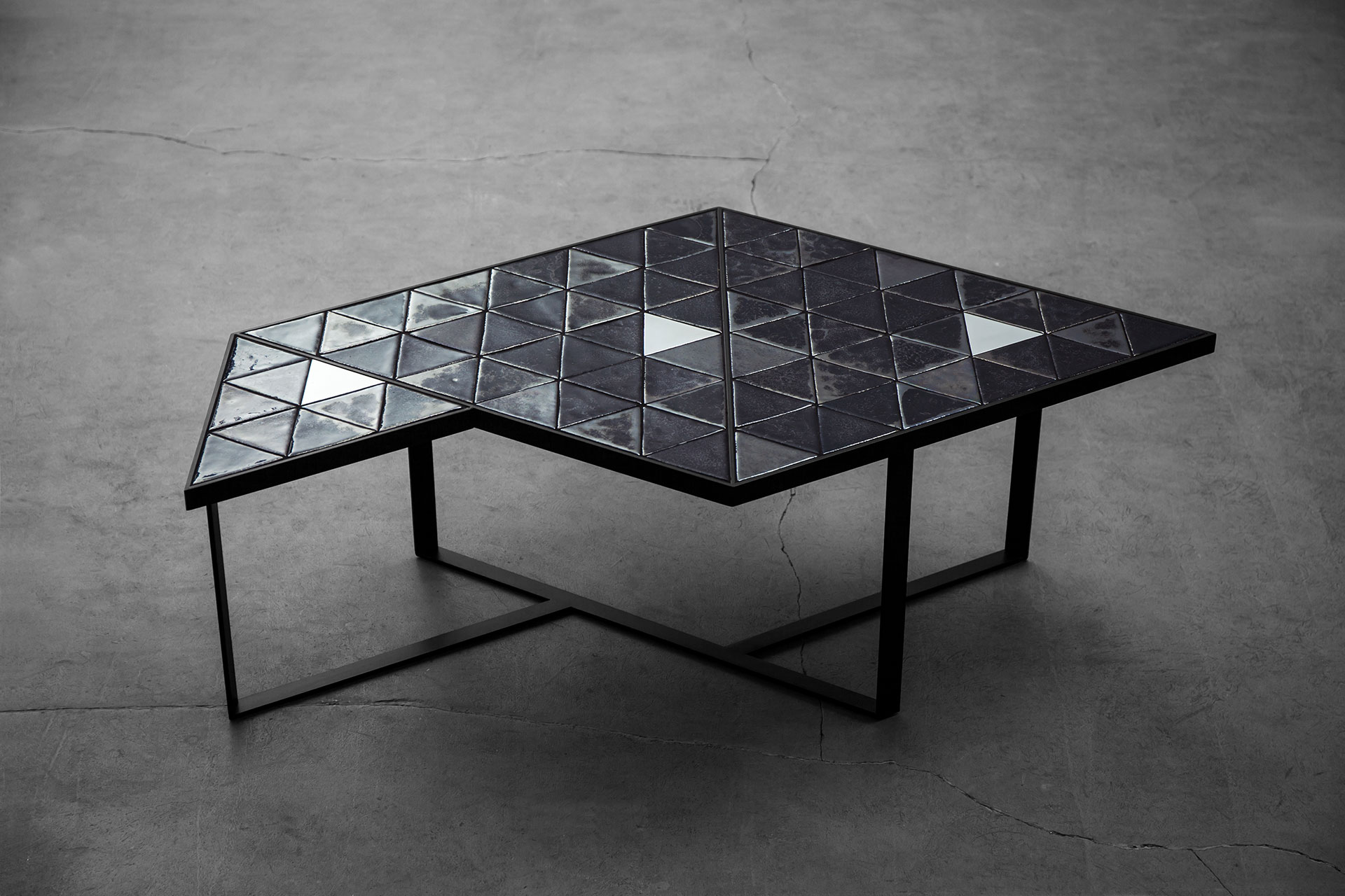 Futuristic design coffee table inspired by the Orion belt