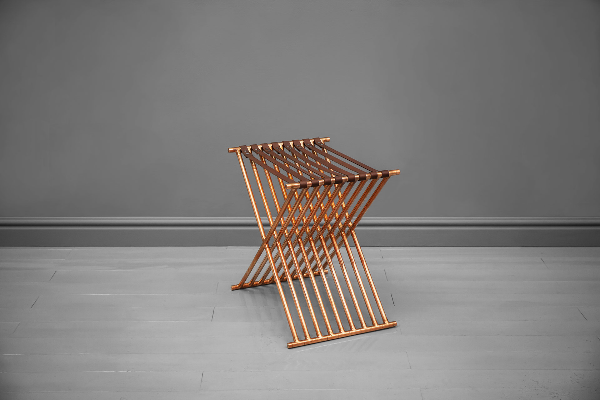 Entrance chair inspired by geometric design