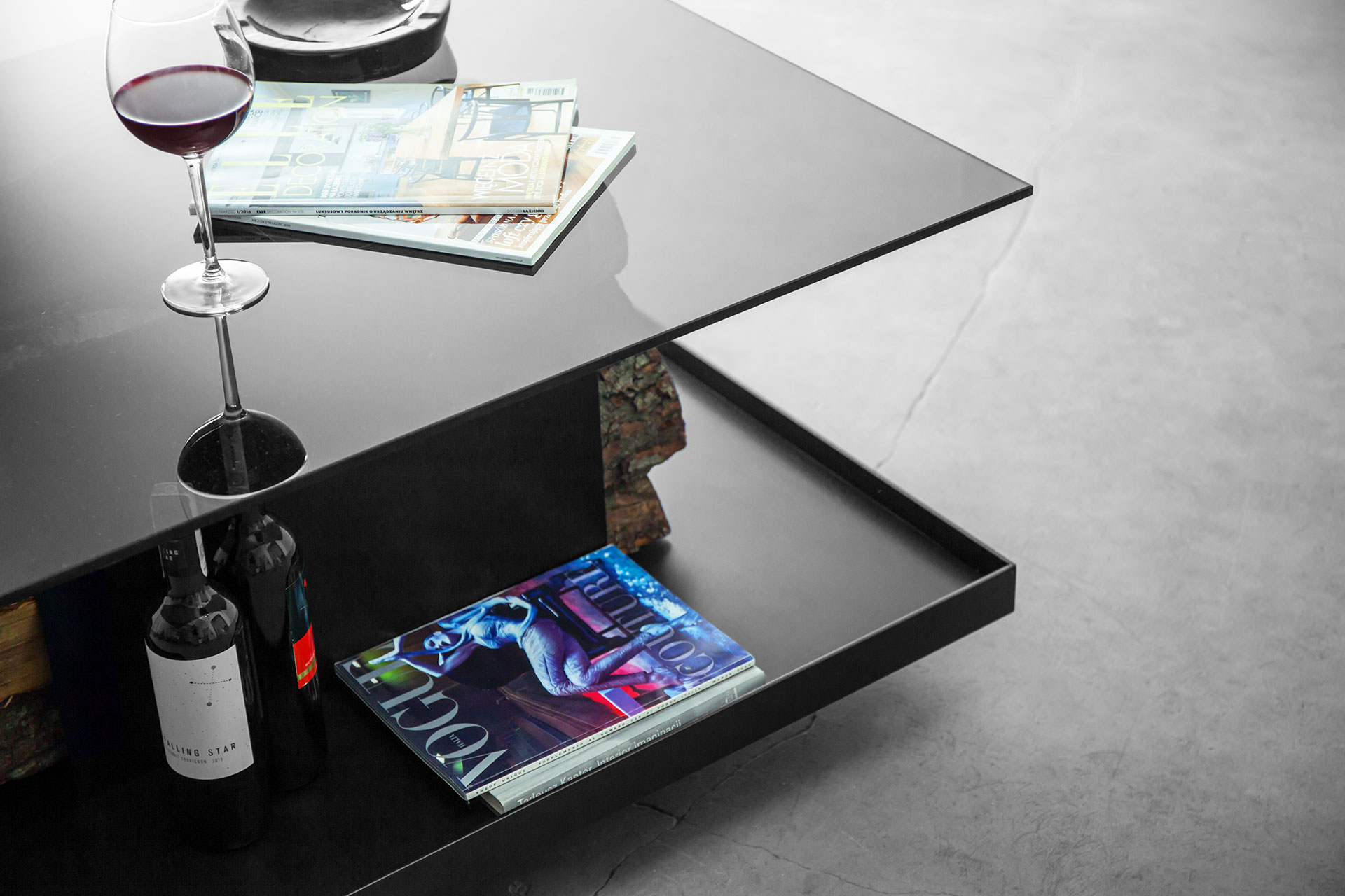 Modern coffee table in minimalist style