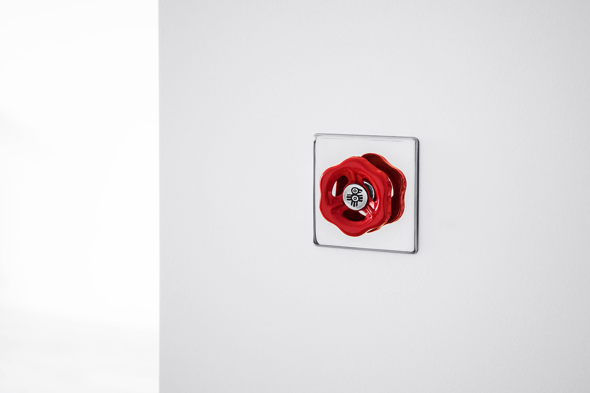 Creative design wall dimmer made of metal inspired by industrial and loft style