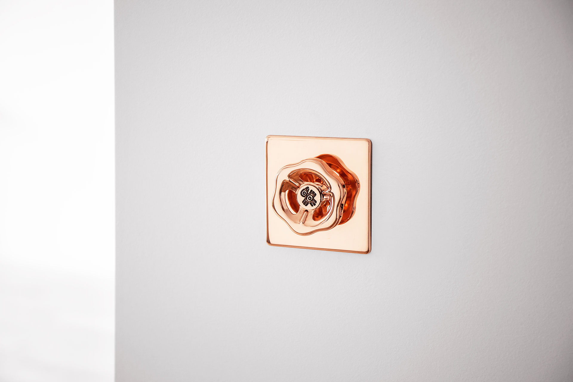 Modern design wall dimmer in fashionable copper metal finish