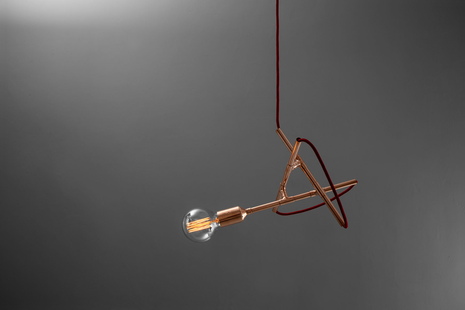 Designers ceiling lamp inspired by mid-century modern style
