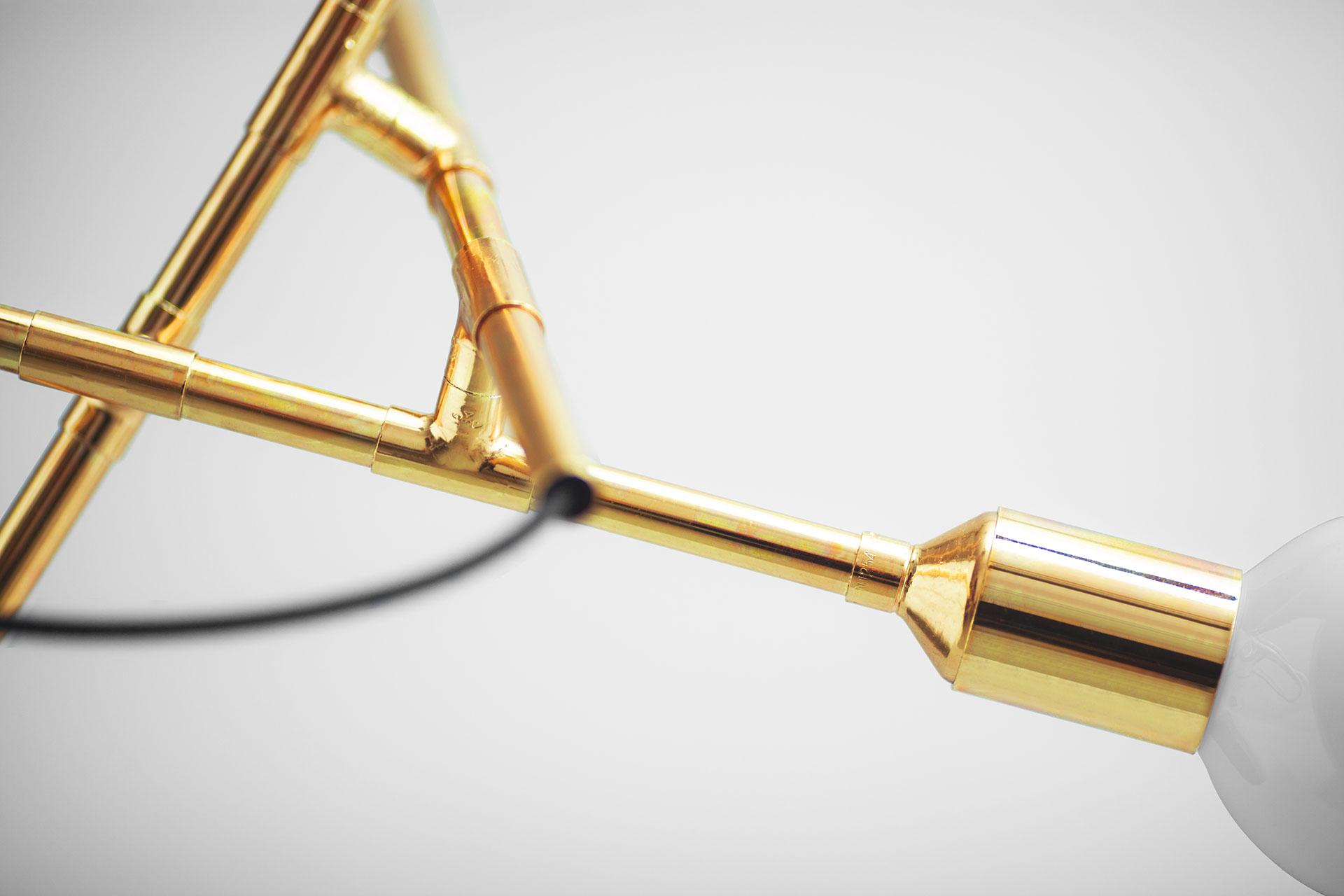 Conceptual design brass pendant lamp