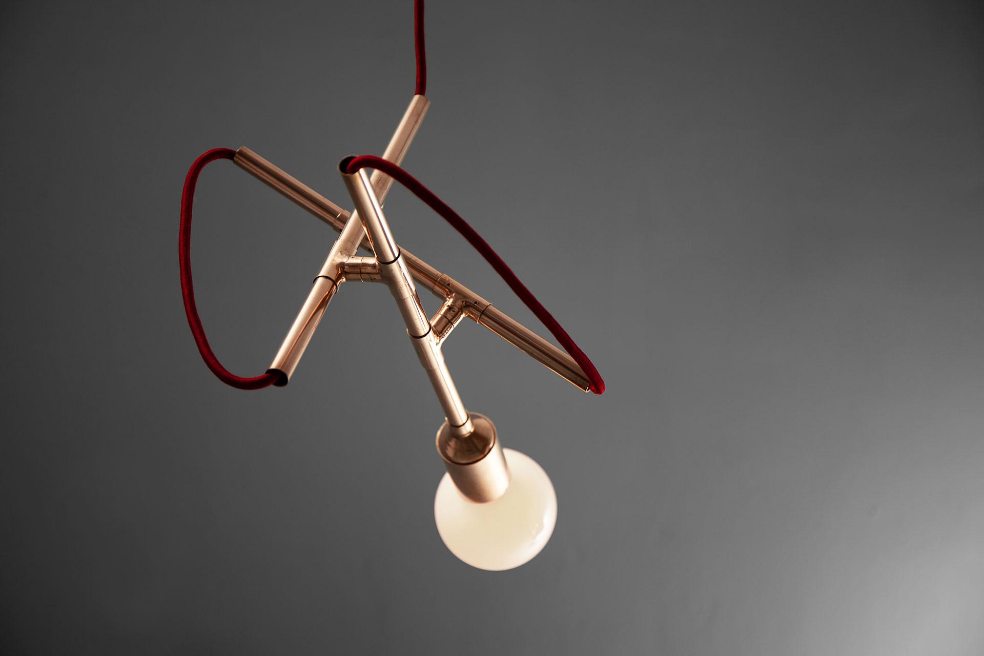 Conceptual design copper pendant lamp